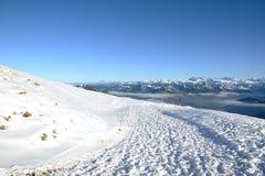Vista delle alpi svizzere dal Rigi Kulm nell'inverno, Lucerna Immagini Stock