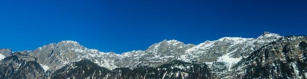 Vista delle alpi tedesche nell'inverno Fotografie Stock
