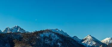 Vista delle alpi tedesche nell'inverno Fotografia Stock