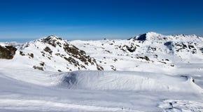 Vista delle alpi in valle di Zillertall, Austria Fotografia Stock Libera da Diritti