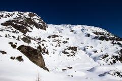 Vista delle alpi in valle di Zillertall, Austria Immagini Stock