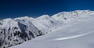 Vista delle alpi in valle di Zillertall, Austria Immagini Stock Libere da Diritti