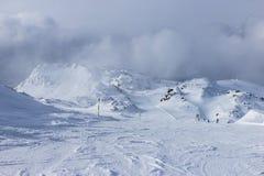 Vista delle alpi in valle di Zillertall, Austria Immagine Stock