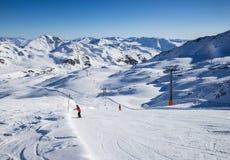 Vista delle alpi in valle di Zillertall, Austria Fotografia Stock