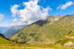 Vista delle alpi vicino a Rothorn Fotografia Stock Libera da Diritti