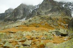 Vista delle alte montagne Immagini Stock