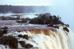 Vista delle cadute di Iguassu Immagine Stock