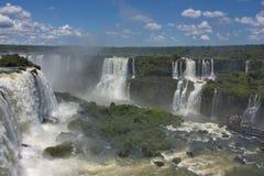 Vista delle cascate di Iguazu dal Brasile Immagini Stock Libere da Diritti