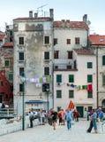 Vista delle case di vecchia città Fotografie Stock Libere da Diritti