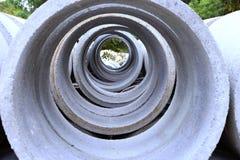 Vista delle condotte di cemento Fotografia Stock
