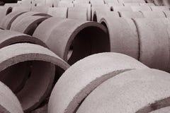 Vista delle condotte di cemento Immagini Stock Libere da Diritti