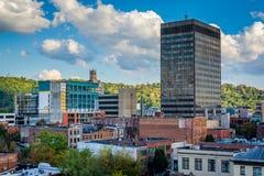 Vista delle costruzioni a Asheville del centro, Nord Carolina Fotografia Stock Libera da Diritti