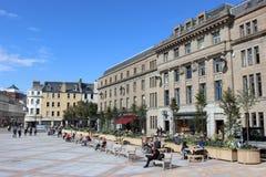 Vista delle costruzioni nel quadrato di città, Dundee, Scozia Fotografia Stock