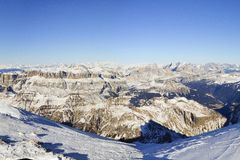 Vista delle dolomia, Italia fotografie stock libere da diritti