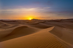 Vista delle dune di ERG Chebbi - Sahara Desert Fotografie Stock