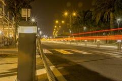 Vista delle luci della città Fotografia Stock