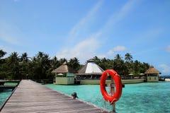 Vista delle Maldive Fotografia Stock Libera da Diritti
