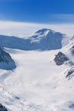 Vista delle montagne Fotografie Stock