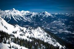 Vista delle montagne Immagini Stock