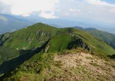 Vista delle montagne carpatiche Immagine Stock Libera da Diritti