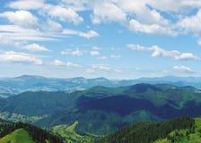 Vista delle montagne carpatiche Fotografie Stock Libere da Diritti