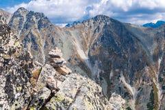 Vista delle montagne da Solisko in alto Tatras, Slovacchia Fotografie Stock