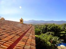 Vista delle montagne da una costruzione, Costa Rica Immagine Stock Libera da Diritti