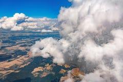 Vista delle montagne dall'aereo Fotografie Stock Libere da Diritti
