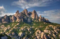 Vista delle montagne del Montserrat Immagini Stock