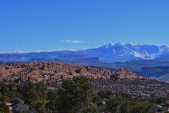 Vista delle montagne del sal della La Fotografie Stock