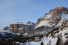 Vista delle montagne della dolomia Fotografie Stock Libere da Diritti