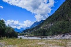 Vista delle montagne della dolomia Fotografia Stock Libera da Diritti
