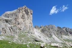 Vista delle montagne delle alpi della dolomia bella Fotografia Stock Libera da Diritti