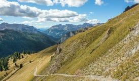 Vista delle montagne delle dolomia Fotografia Stock