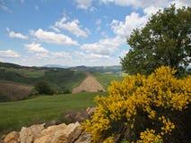 Vista delle montagne di Appenins, Umbria, Italia Fotografia Stock Libera da Diritti
