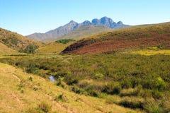 Vista delle montagne di Cockscomb Fotografia Stock