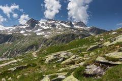 Vista delle montagne di estate Immagini Stock