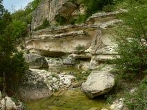 Vista delle montagne di Rhodope, Bulgaria Immagine Stock