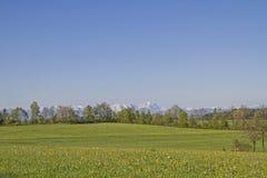 Vista delle montagne di Wetterstein Fotografie Stock Libere da Diritti