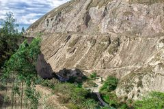 Vista delle montagne e dell'abisso paesaggio immagine stock libera da diritti
