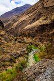 Vista delle montagne nell'Ecuador Immagini Stock