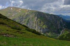 Vista delle montagne polacche di Tatra Immagine Stock
