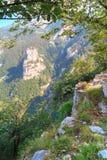 Vista delle montagne sopra il lago Como Immagini Stock Libere da Diritti