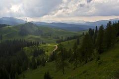 Vista delle montagne valli, Austria Fotografia Stock