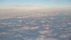 Vista delle nuvole dall'obl? dell'aeroplano video d archivio