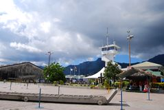 Vista delle nuvole e della montagna Immagini Stock Libere da Diritti