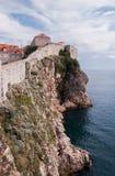 Vista delle pareti di vecchia città di Ragusa, Croazia Fotografia Stock