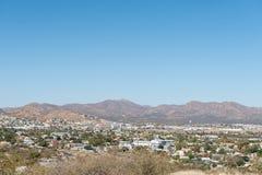Vista delle parti del sud di Windhoek Fotografie Stock