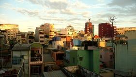 Vista delle parti superiori del tetto Fotografie Stock