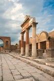 Vista delle rovine di Pompei in Italia Immagini Stock Libere da Diritti